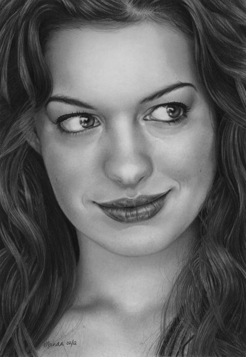 Anne Hathaway by manda